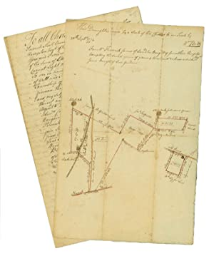Manuscript Deed to a Piece of Land in Essex County, New Jersey, with Legal Description, April 12,...