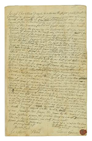 [Manuscript Quit Claim to a Piece of Land in New Jersey owned by Thomas Gardner.]