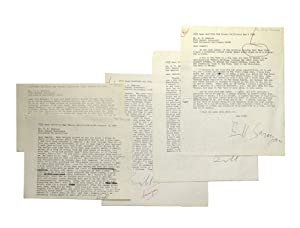 """5 Typed Letters Signed (""""Bill Saroyan"""" and: Saroyan, William"""