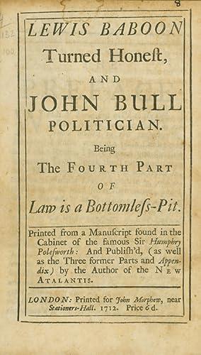 Lewis Baboon turned Honest and John Bull: Arbuthnot, John]