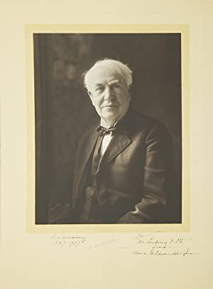 Photogravure Portrait of Thomas Edison