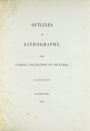 Outlines in Lithography, from a Small Collection of Pictures: Turner, Dawson