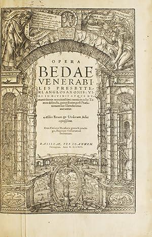 Opera Bedae Venerabilis ? Omnia in octo: Bede, the Venerable