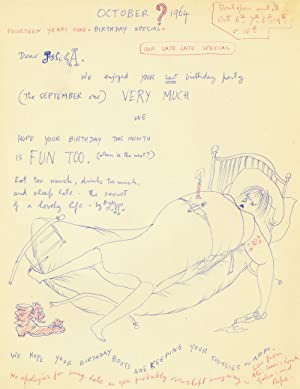 Fifteen letters and drawings by Charlotte's Web illustrator Garth Williams to his daughters Jessi...