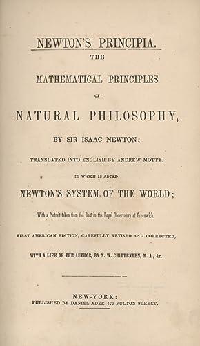 Newton's Principia. The Mathematical Principles of Natural: Newton, Isaac