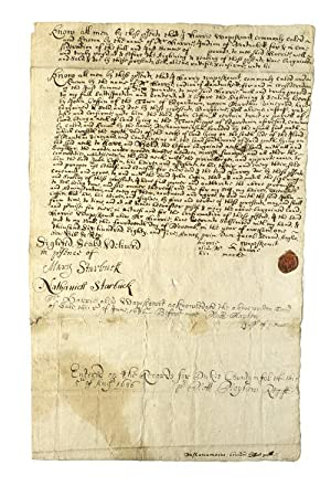 Manuscript deed of sale (November 14, 1685) of Nashowamoiasuk, now Neck Point of the Edgartown Gr...