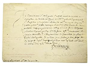 Autograph manuscript document signed