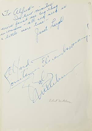 Autograph inscriptions signed, to photographer Alfred Eisenstaedt