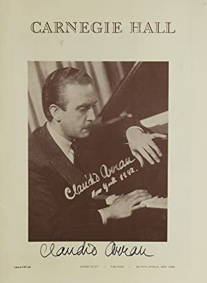 Carnegie Hall Program, SIGNED BY CLAUDIO ARRAU