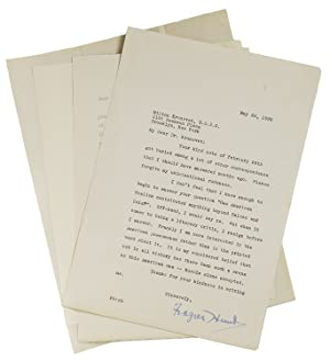 Collection of 8 letters from literary figures to Dr. Milton Kronovet, V. S. D. C.
