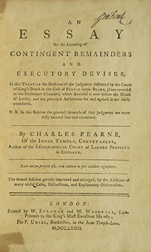 An Essay on the learning of contingent: Fearne, Charles