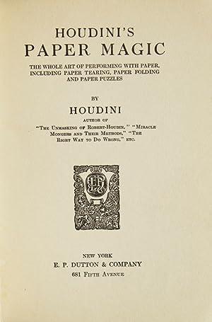 Houdini's Paper Magic: Houdini, Harry