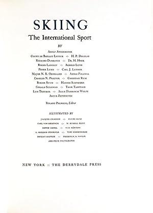 Skiing, The International Sport by Adolf Attenhofer,: Skiing) Palmedo, Roland