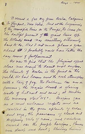 Giant Nova Scotia Tuna.] Manuscript Section, from: Grey, Zane