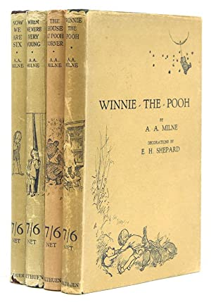 Complete set of first editions of the: Milne, A.A.