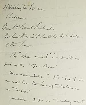 "Autograph Letter Signed (""Aleister Crowley""), to publisher: Crowley, Aleister"