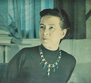 "Photograph signed (""S de Beauvoir"") and inscribed: Beauvoir, Simone de"