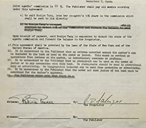 "Contract signed (""J.D. Salinger""), granting Spanish-language publishing: Salinger, J.D."