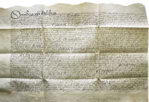 Manuscript indenture from the reign of Queen Elizabeth I between William Frankland and Hugh Frank...