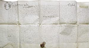 Manuscript indenture from the reign of Queen Elizabeth I of England between John Bert and Thomas ...