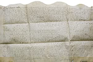 Manuscript indenture of demise from John Fetyplace, gentleman of Beselslight to Henry Towpott of ...