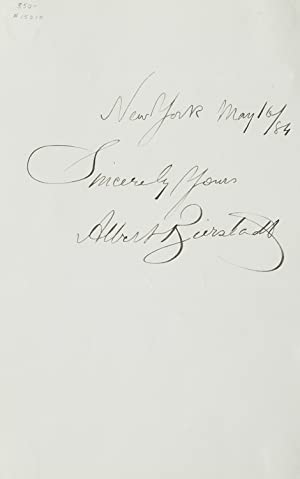 Autograph inscription and signature