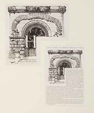 "Entrance to New York YWCA: pen and ink on paper, signed with monogram ""HF"" and dated &..."