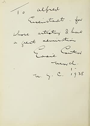 Autograph Note Signed to photographer Alfred Eisenstaedt,: Cantor, Eddie