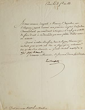 Manuscript Document Signed (