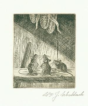 Original etching: Frustration: Schaldach, William J.