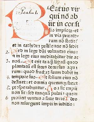 Psalterium [with] Commune sanctorum: Bible, Psalms)