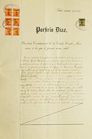 Partly Printed Document, signed (