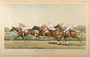 "American Polo Scenes"" Hand-colored aquatint engravings. ""Down: Brown, Paul (1893-1960)"