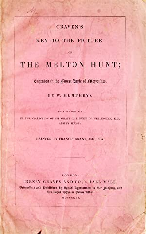 Key to the Picture of The Melton: Foxhunting)(Melton Hunt)