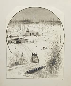 Group of 11 original illustrations of Michigan hunting scenes, for his