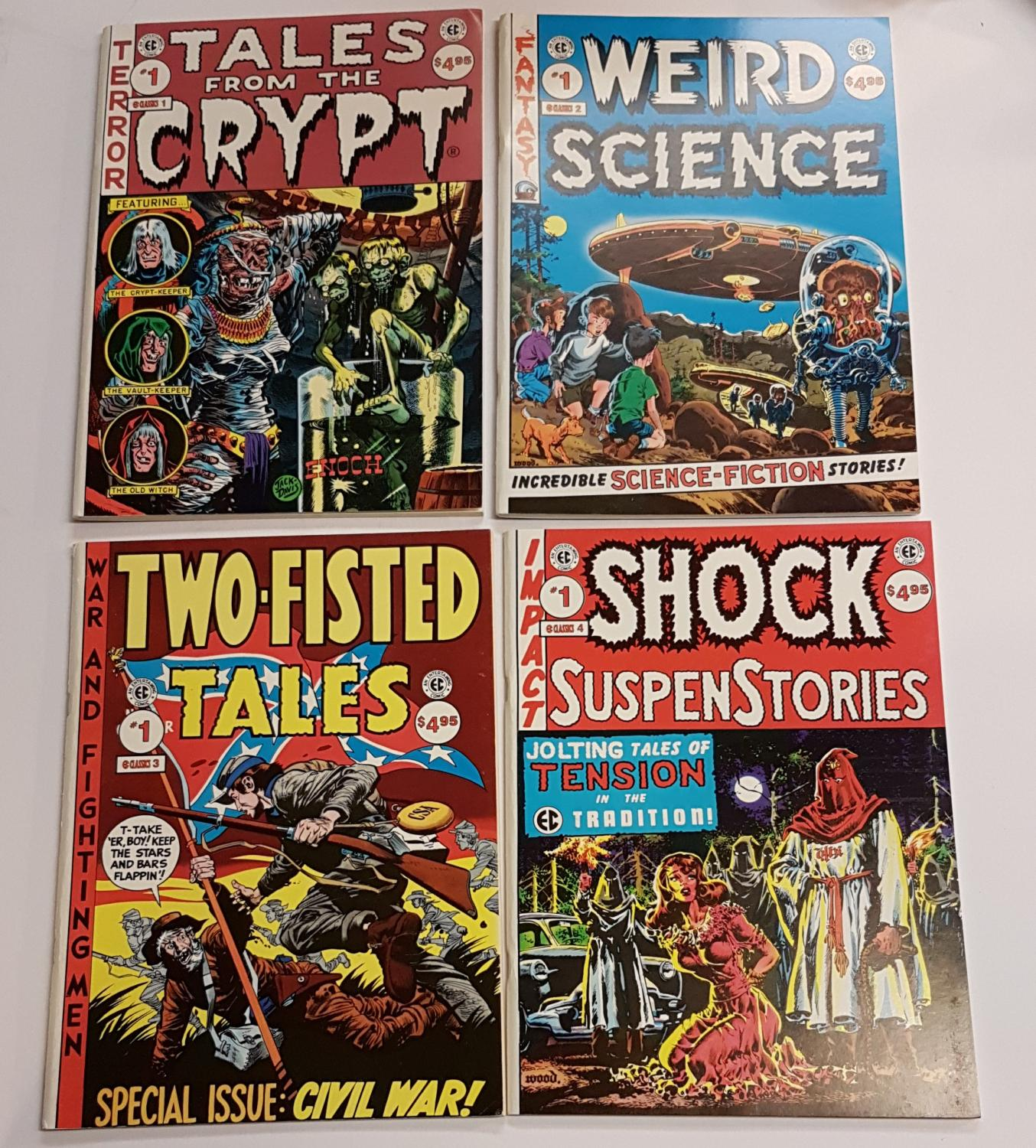 Issues 1-12 - Weird Science; Tales from the Crypt; Two-Fisted Tales; Shock SuspenStories; Weird Fantasy; The Vault of Horror; Weird Science-Fantasy;
