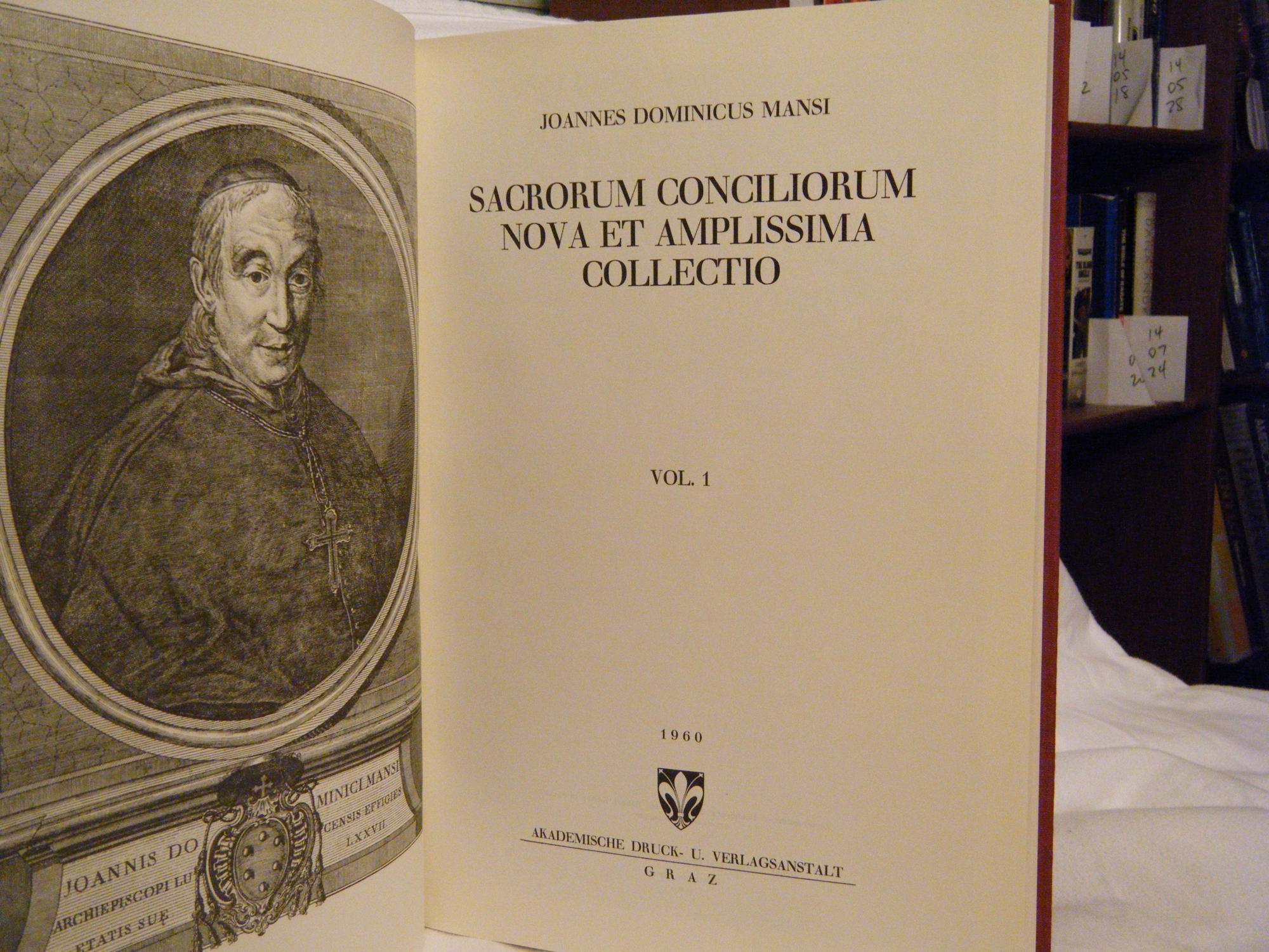 Resultado de imagen de MANSI, Conciliorum collectio,