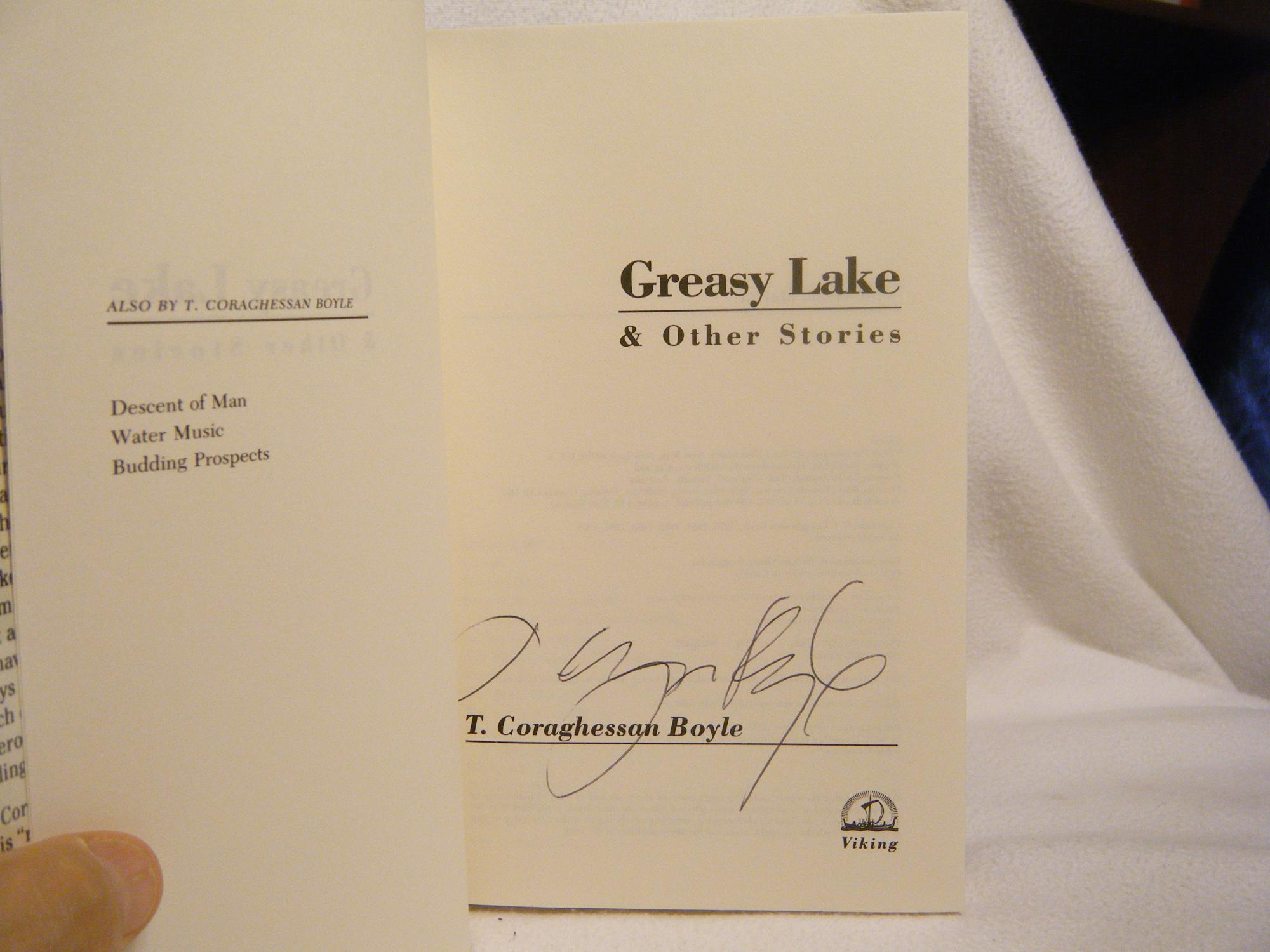 greasy lake coraghessan boyle
