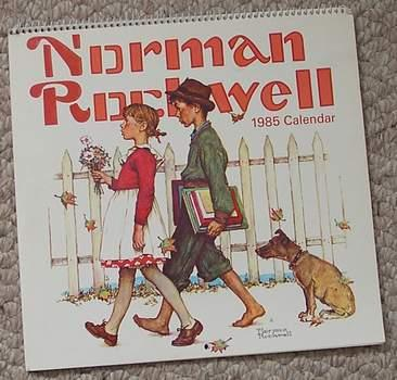 Norman Rockwell 1985 Calendar By Rockwell Norman Hoyle Products