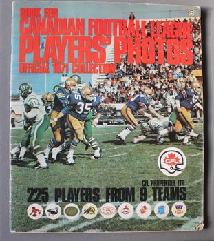 Book For Canadian Football League Players Photos Official 1971