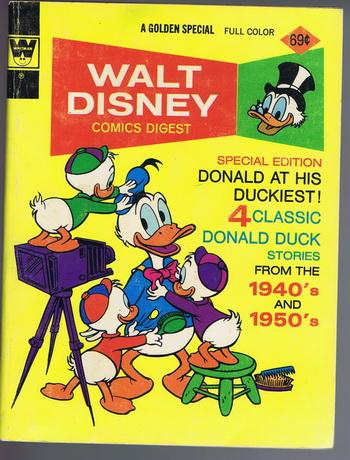 WALT DISNEY COMICS DIGEST #44 (6/1968-2/1976 series) Donald Duck and the MUMMY'S RING / LUCK OF THE NORTH / ANCIENT PERSIA / PIXILATED PARROT = CARL BARKS Special issue .