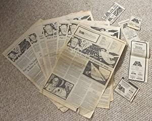 STAR WARS Set of Part 1-8, 10-14 Novel Serialized in Winnipeg TribuneTabloid Newspaper July 2-18 ...