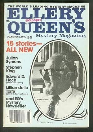ELLERY QUEEN'S MYSTERY MAGAZINE DECEMBER 1, 1980: King, Stephen [Ellery