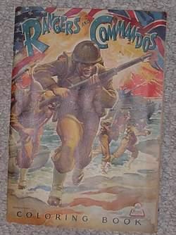 RANGERS AND COMMANDOS Coloring Book (Merrill Publishing: Madan, Fredric C.