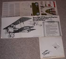 SOPWITH CAMEL F.I. - Punchout Paper Airplane: CBC TV Network