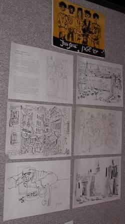 YOSSI STERN - 10 Drawings PGE '01' Art Print Portfolio #1 / One containing Prints #1-5 (from War ...