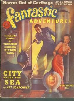 FANTASTIC ADVENTURES ( September 1939; PULP Magazine; Volume-1 #3 ) Horror Out of Carthage by ...