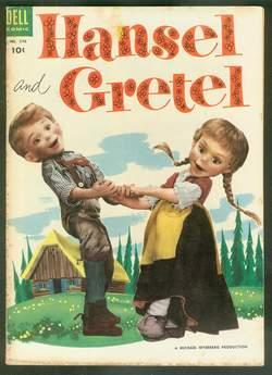 HANSEL AND GRETEL.{Michael Myerberg's.} - Four Color #590 (DELL Pub; Original USA Color Comic Boo...