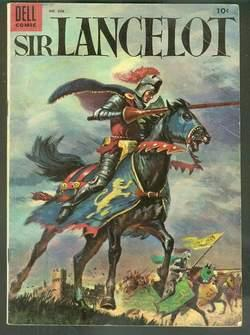 SIR LANCELOT - Four Color #606 = FIRST issue (December/1954; DELL Pub) (1) Sir Lancelot and the C...
