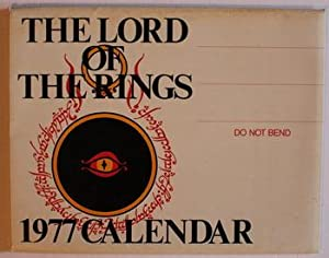 THE LORD OF THE RINGS CALENDAR 1977.: J.R.R. Tolkien [